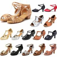 Women Ladies Latin Dance Shoes Party Ballroom Heeled Tango Salsa Dancing Sandals