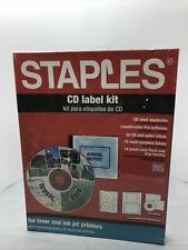 Staples Cd Label Kit Applicator Software Labels And Jewel Case Inserts 2 0