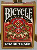 Bicycle Dragon Back (Gold) Standard Size Playing Cards - Sealed New Deck, USPCC