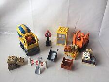 LEGO Duplo Baustelle Stapler Set 5594 + Betonmischer Set 4976 + Extras