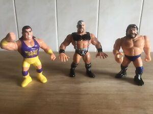 "Three WWE 5"" Wrestling Figures Titan Sports - 1991 & 1992"