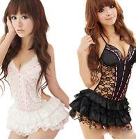 Sexy Princess Underwear Mini Dress Backless Lace Lingerie Set G-string Babydoll