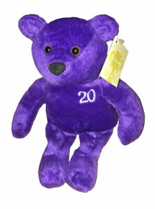 "Nutrisystem 20lb Weight Loss NutriBear 9"" Purple Teddy Bear Bean Plush"