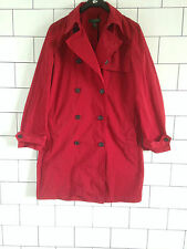 WOMEN'S RARE 90'S URBAN VINTAGE RETRO RED RALPH LAUREN MAC TRENCH COAT UK L