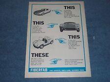 "1967 FiberFab Kit Cars Vintage Ad GT Avenger Vagabond ""This, This, This, These"""