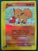 Pokemon Vulpix 116/147 Aquapolis Reverse HOLO Card excellent + bonus nonholocard
