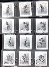 Yolanda Has Fun Posing Nude HENDRICKSON Negatives Photograph Contact Sheet D965