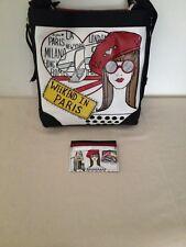 Brighton 2-pc Handbag Fifi Weekend Paris Fashionista Chic Crossbody & Card Case