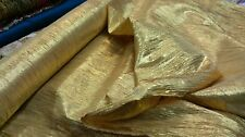 """NEW*gold crush disco lame fabric ideal for fashion and decoration 54""""wide"""