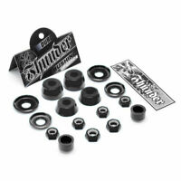 Thunder Bushings Rebuild Kit Hard 100A BLACK Cushions Skateboard Trucks Rubbers