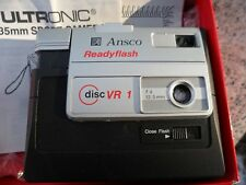 Vintage Ansco Ultronic VR 1 Disc Camera Sport Slim Old School Photography w/ Box