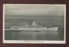 ADEN 1949 PPC SHIP RMS ORCADES ORIENT LINE REAL PHOTO to DORSET...4A FRANKING