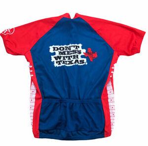 DONT MESS WITH TEXAS Guitar Cycling Bike Jersey 3/4 Zip Mens Size 2xl XXL