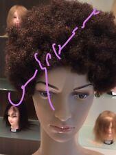 Afro Echthaarperücke - Bob Afro - No lace- kurz - Farbe 2