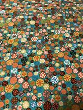Fun Colorful Buttons cotton quilters Fabric per yard  craft / sew 44""