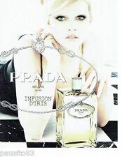 PUBLICITE ADVERTISING 116  2010  Parfum Infusion d'Iris PRADA Georgia May Jagger