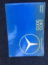 Original W123 Mercedes Benz 300d And 240d. Owners Operators Manual 82
