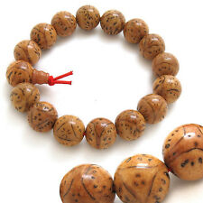 Stretchy Tibetan Meditate 14 Big Bodhi Seed Prayer Beads Mala Bracelet