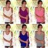 Womens Bandage Off Shoulder Short Sleeve Summer Casual T-Shirt Tops Loose Blouse