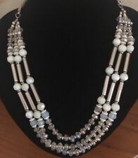 WALLIS PALE GREEN AB CRYSTAL BEADED NECKLACE - NEW £15