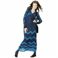 Missoni Blue Chevron Knit Maxi Sweater Dress - Women's X-Small XS