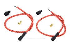 Sumax Orange with Black Tracer 7mm Spark Plug Wire Set For Harley-Davidson