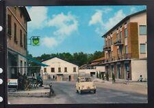 Cartolina Bibbiano Reggio Emilia Centro Fossa ANIMATA MACCHINA FIAT HC187