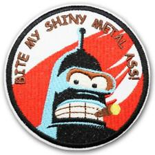 "Futurama, ""Bite My Shiny Metal Ass"" Embroidered Patch - New"