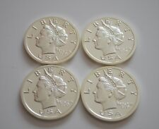 "Lot of 4 Norfed 2006 Puerto Rico $20 Silver Round Bullion Coin Stamped ""PR"" .999"