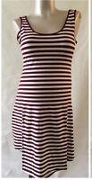 New Look Maternity NEW Striped Burgundy Summer Sleeveless Dress 10,12,14,16,18