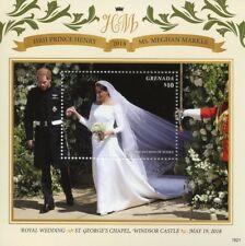 Grenada 2018 MNH Prince Harry & Meghan Royal Wedding 1v S/S Royalty Stamps