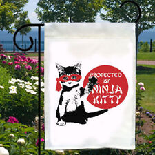 New listing Ninja Kitty New Small Garden Yard Flag Home Decor Gifts Parties Events Cat Lover
