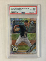 JESUS LUZARDO 2019 Bowman Chrome MEGA BOX MOJO SP RC! PSA NM-MT 8! #BCP-96!
