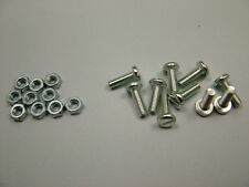 Machine screws with nuts M4 x 12, pack of 50, pan head slotted bolt bolts screw