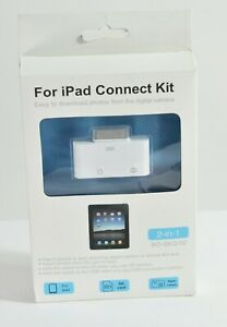 """iPad Connect Kit for 10.2"""" iPad, 3rd party, 2-in-1 with card reader, cables"""