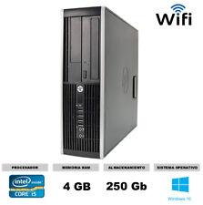 Ordenador Hp 8200 sff Core i5 4gb 250 gb potente y economico Windows 10