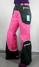 Dark Green & Hot Pink Flared Trousers  Size S/M  Cosplay Psy Rave
