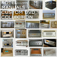 Rotel Service Manuals Owners Ops Manuals Huge Mega Collection PDF DVD  **Nice**