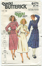 Butterick 6171 Misses Vintage Dress Top Skirt Sewing Pattern Size 10 Uncut