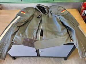 Bundeswehr Motorrad - Lederjacke Gr. L, mit Flaggen, kaum oder nicht getragen