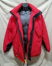 Marlboro Country Store Down Filled Ski Jacket Parka Hooded Coat Red Mens Sz Med