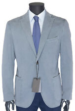 NWT BOGLIOLI Milano BLAZER jacket stretch cotton sky blue luxury Italy 54 us 44