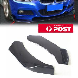 Black Winglet Side Lip Splitter Wing For Car SUV Front Bumper Splitter Diffuser
