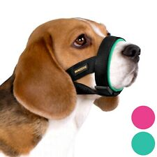 Soft Padded Dog Muzzle Adjustable Neoprene Muzzles For Dogs Small Medium Large