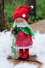 Interior Doll Sewing Kit Pattern Christmas Cute Tilda Doll Xmas Present