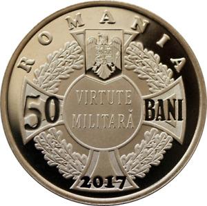 ROMANIA 50 bani 2017 Brass coin ROMANIAN Rumänien PROOF ECATERINA TEODOROIU
