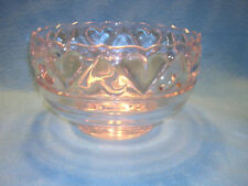 """Heart Bowl by Tiffany & Co. (Stamped) Crystal 8"""" Diameter Large Heavy Bowl"""