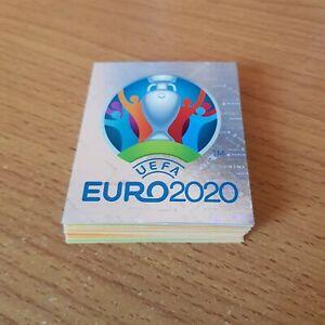 PANINI FOOTBALL LOT DE 50 IMAGES EURO 2020 TOURNAMENT EDITION AUCUN DOUBLE