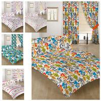 Childrens Bedding Double Size Duvet Qulit Covers & 2 Pillowcases Bed Kids Prints