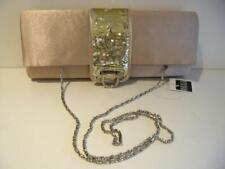NWT BIJOUX TERNER Cream Satin Gold Sequin Evening Purse Clutch Shoulderbag